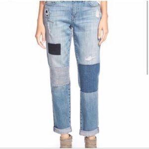 Treasure & bond patched boyfriend jeans